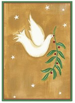 Caspari Dove with Holly Branch Holiday Cards, Box of 16