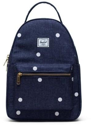 Herschel Nova Small Backpack Polka Dot Crosshatch Peacoat