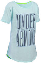 Under Armour Girls 7-16 Dazzle Logo Tee