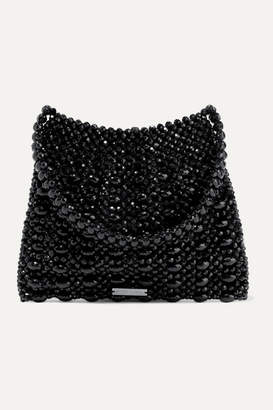 Loeffler Randall Mira Beaded Satin Shoulder Bag - Black
