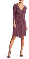 Laundry by Shelli Segal Geo Wrap Dress (Petite)