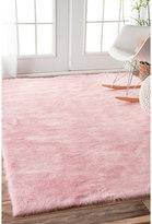 nuLoom Cozy Soft and Plush Faux Sheepskin Shag Kids Nursery Pink Rug (7'6 x 9'6)