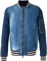 Ports 1961 denim bomber jacket - men - Cotton/Spandex/Elastane - 44