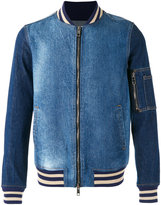 Ports 1961 denim bomber jacket - men - Cotton/Spandex/Elastane - 46