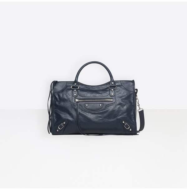 ca49e830c5 Balenciaga Blue Metallic Leather Handbags - ShopStyle