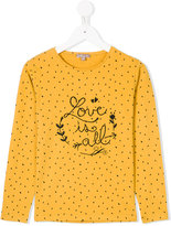 Emile et Ida Love is all embroidered T-shirt