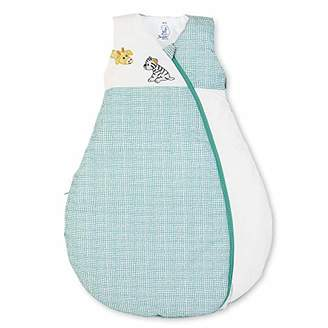 Sterntaler Functional Sleeping Bag for Toddlers, All Year Round, Cuddly Zoo, With Zip, Size: 110, White/Green