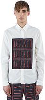 J.w. Anderson Men's Tool Print Panel Shirt In White