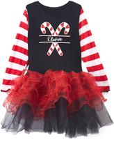 Beary Basics Red & Black Personalized Tutu Dress - Toddler & Girls