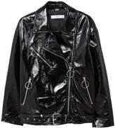 MANGO Vinyl biker jacket