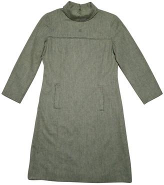 Courreges Khaki Wool Dresses