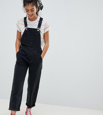 Asos DESIGN Petite denim dungaree in washed black