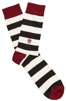 Alexander McQueen Striped cotton-blend socks