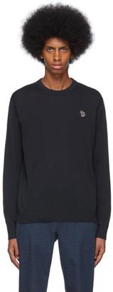 Paul Smith Navy Zebra Crewneck Sweater