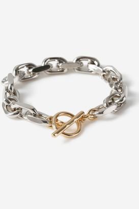 Topshop Chain T-bar Bracelet