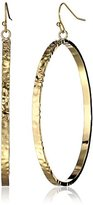 """BCBGeneration Gold Plated Drop Hoop Earrings, 2.75"""""""