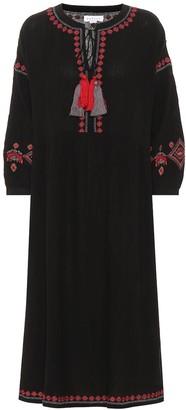 Velvet Etta embroidered midi dress