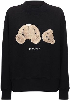 Palm Angels Bear Print Cotton Sweatshirt
