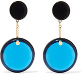 Marni Gold-plated, Resin And Horn Earrings - Blue