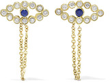 Ileana Makri Chained Eye 18-karat Gold, Diamond And Sapphire Earrings - one size