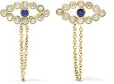 Ileana Makri Chained Eye 18-karat Gold, Diamond And Sapphire Earrings