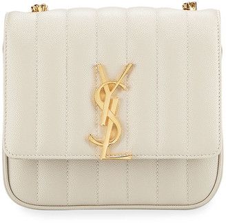 Saint Laurent Vicky Small Monogram Quilted Crossbody Bag