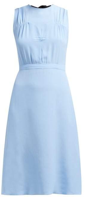 No.21 No. 21 - Bow-back Crepe De Chine Shift Dress - Womens - Light Blue