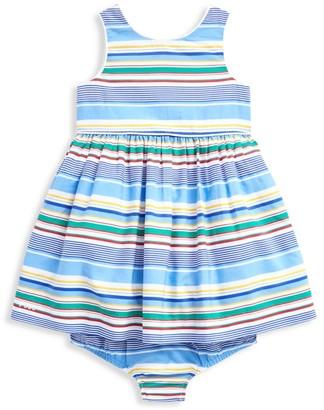 Ralph Lauren Baby Girl's 2-Piece Stripe Poplin Dress & Bloomer Set