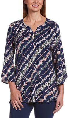 Rafaella Women's Paisley Trellis Floral Tunic