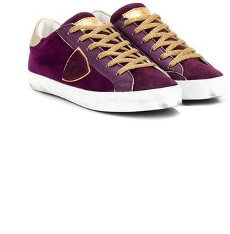 Philippe Model Kids logo crest low-top sneakers