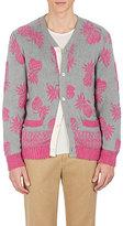 Sacai Men's Pineapple-Pattern Cotton Cardigan