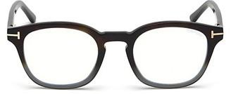 Tom Ford 49MM Blue Block Gradient Soft Square Eyeglasses