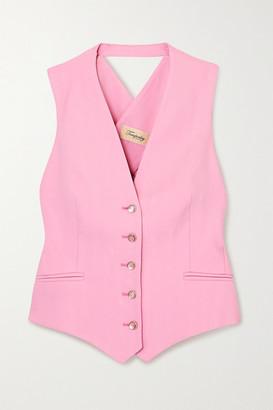 Temperley London Marlene Open-back Grain De Poudre Vest - Pink