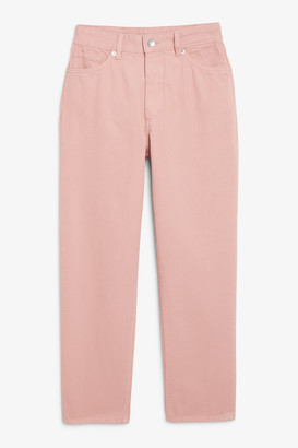 Monki Taiki pink jeans