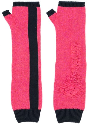 Barrie Bright Side cashmere fingerless gloves