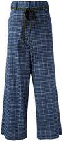 Hache high-rise plaid trousers - women - Cotton - 44