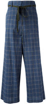 Hache high-rise plaid trousers