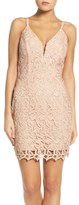 Greylin Olivia Metallic Lace Sheath Dress