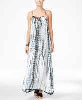 Raviya Tie-Dyed Lattice-Back Maxi Dress Cover-Up