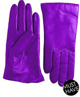 "Lord & Taylor Cashmere-Lined 9"" Leather Gloves"