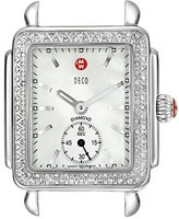 Michele Women's MW06V01A1025 Deco 16 Analog Display Swiss Quartz Silver Watch Head