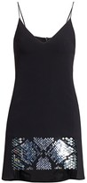 David Koma Plexi Embellished Hem Camisole Mini Dress