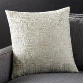 Crate & Barrel Confetti Silver Pillow