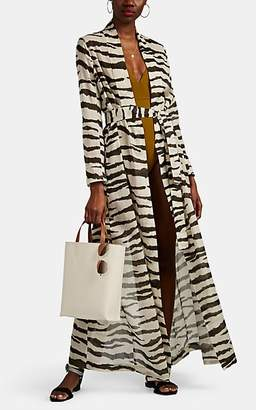 On The Island Women's Marigot Striped Cover-Up Maxi Dress - Wht, Blk zebra