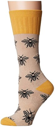 Socksmith Bee (Oatmeal) Women's Crew Cut Socks Shoes