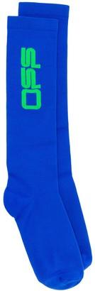 Off-White Long Jacquard Logo Socks