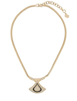 Christian Dior 1990s Pre-Owned Geometric Pendant Necklace