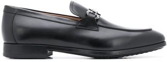 Salvatore Ferragamo leather Gancini applique loafers
