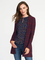 Old Navy Jacquard Open-Front Cardi-Coat for Women