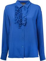 Moschino ruffled detail shirt - women - Silk/Rayon - 40